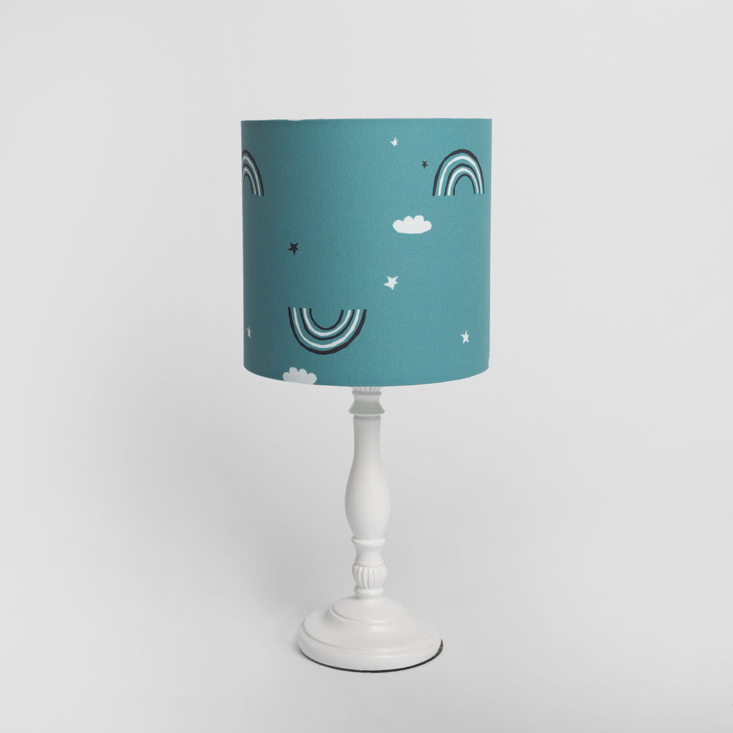 Teal Rainbow Print Lampshade, Ingrid Petrie for Little Jagger