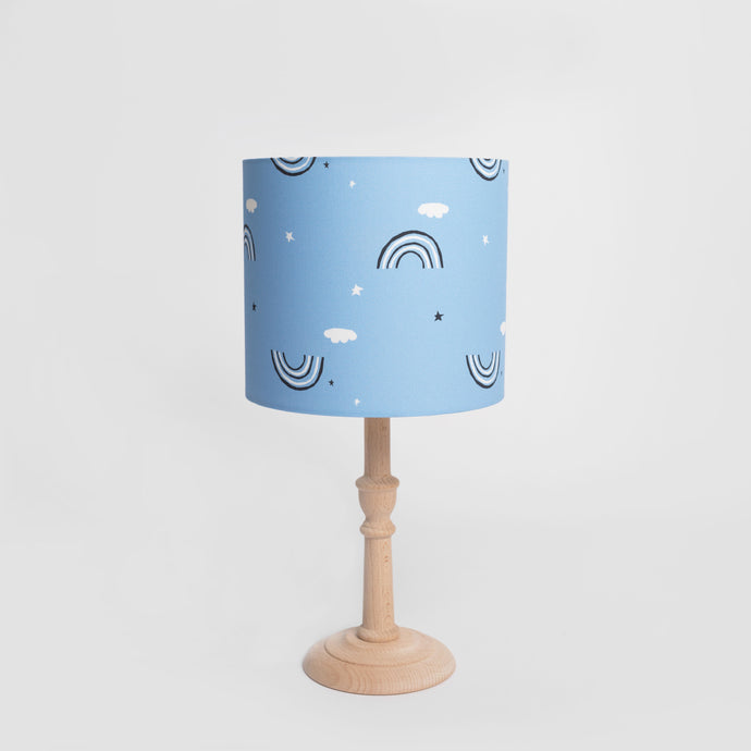 Blue Rainbow Print Lampshade, Ingrid Petrie for Little Jagger