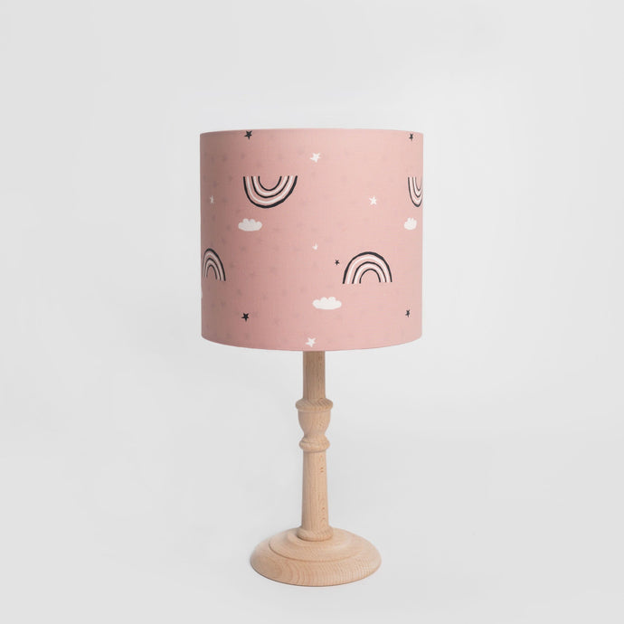 Pink Rainbow Print Lampshade with Star inner, Ingrid Petrie for Little Jagger