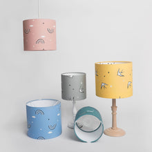 Load image into Gallery viewer, Pink Rainbow Print Lampshade with Star inner, Ingrid Petrie for Little Jagger