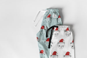 Blue Christmas Beary Sleepy Pyjama Set, unisex