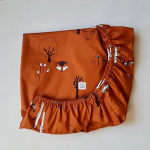 Limited Edition Rust Woodland Fitted Sheet