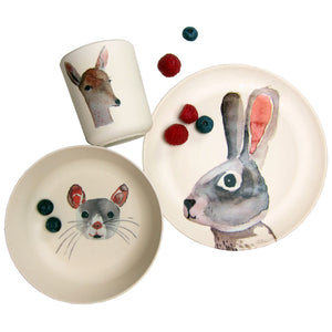 Bunny & Friends Bamboo Tableware Box Set