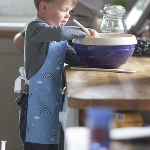 Blue Rainbow Print Baking Apron