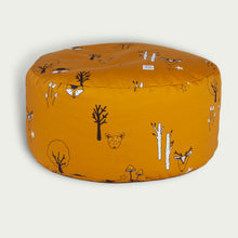Load image into Gallery viewer, Mustard woodland beanbag with carry handle