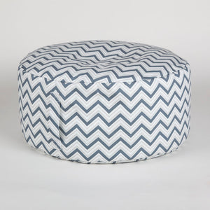 Petrol blue chevron Beanbag with carry handle