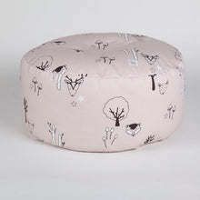 Load image into Gallery viewer, Blush pink woodland beanbag with carry handle