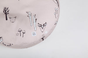Blush pink woodland beanbag with carry handle