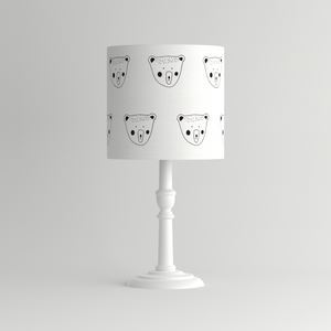 Monochrome Billy bear lampshade
