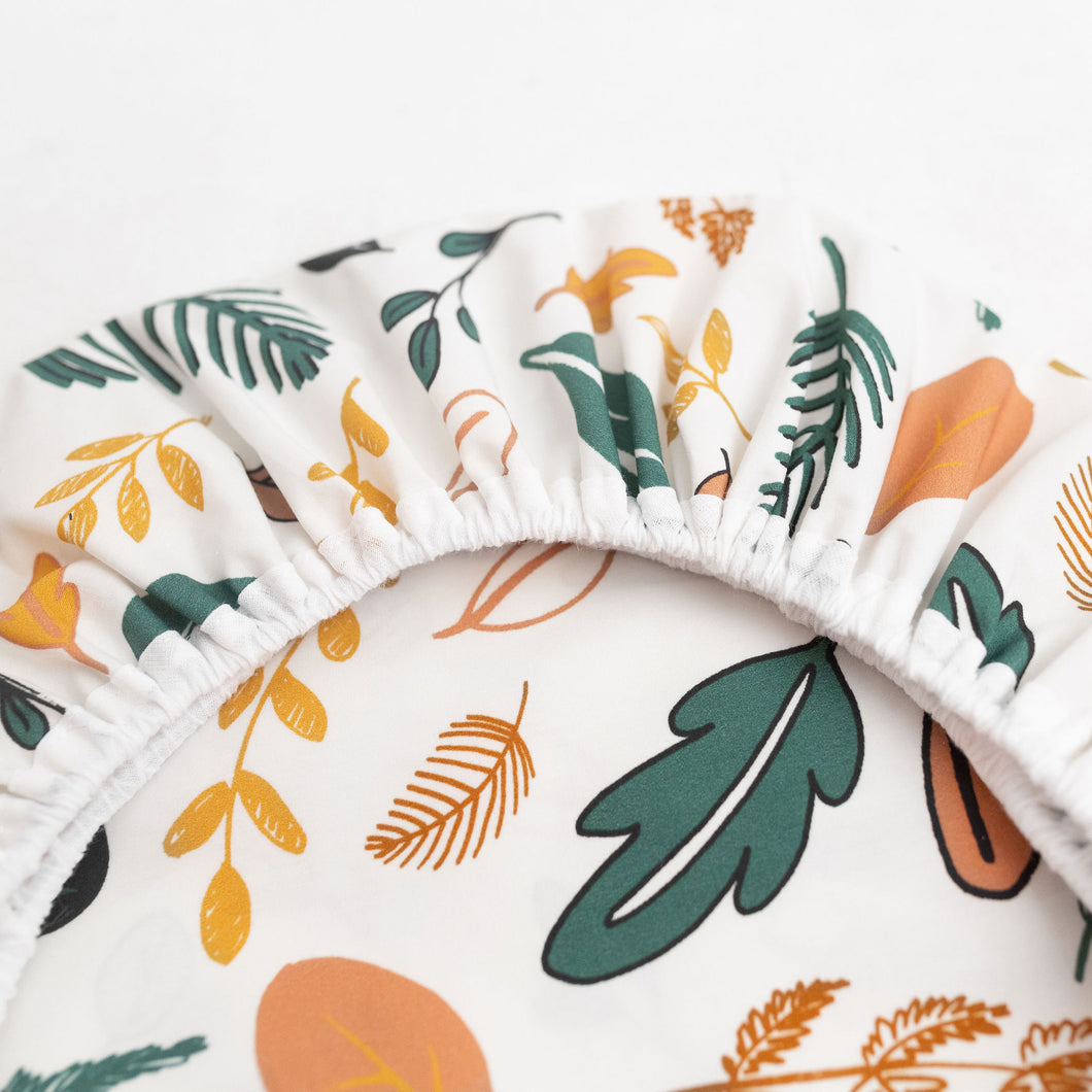 Leaf Print Moses Basket sheet