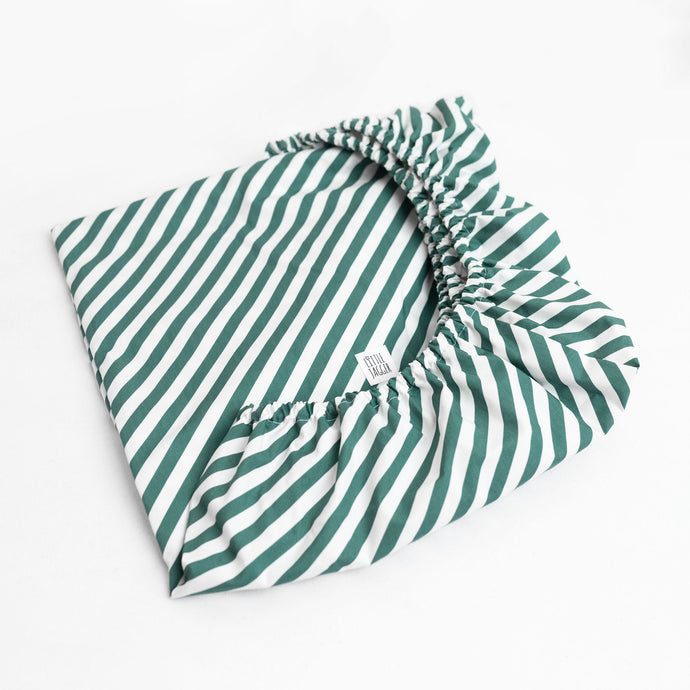 Forest Green Diagonal Fitted Sheet