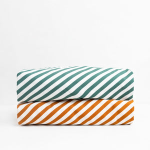 Diagonal Stripe Print Cushion