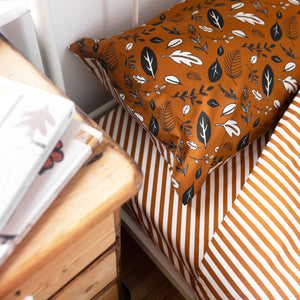 Diagonal Stripe Fitted Sheet
