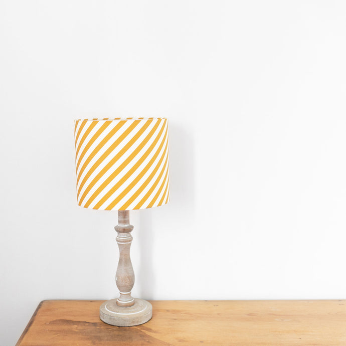 Diagonal Striped , White Lined Drum Shade
