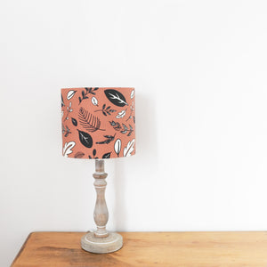Drum lampshade with fabric inner
