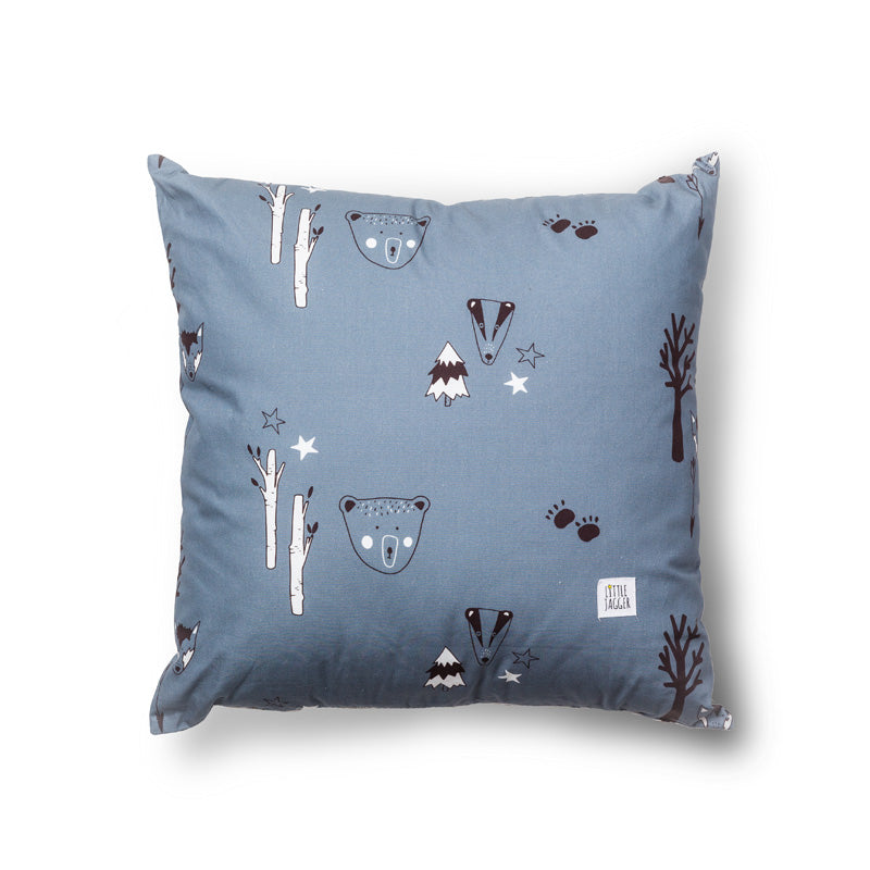 Petrol Woodland Cushion