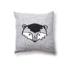 Load image into Gallery viewer, Knitted Ronnie Raccoon Cushion