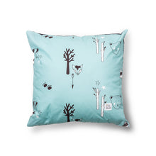 Load image into Gallery viewer, Duck egg Woodland Cushion