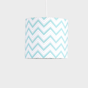Mint Chevron Pendant Shade