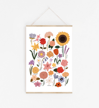 Load image into Gallery viewer, Flower Chart Art Print