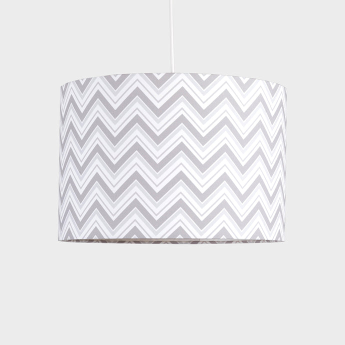 Grey Chevron Pendant Shade