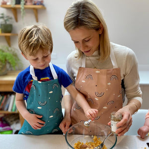 Adult and kids matching apron set