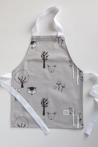 Grey Woodland Baking Apron
