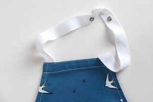 Blue Swallow Print Baking Apron