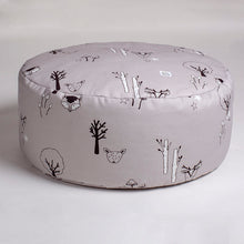 Load image into Gallery viewer, Grey woodland beanbag with carry handle
