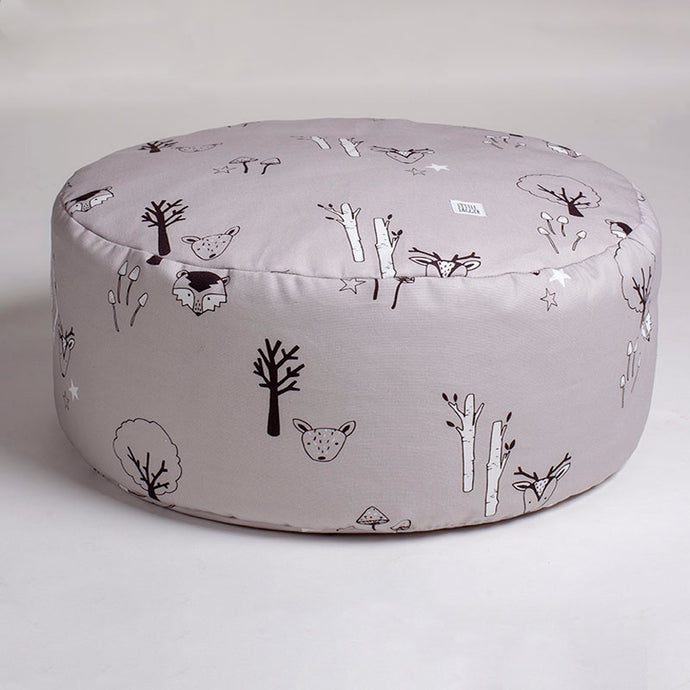 Grey woodland beanbag with carry handle
