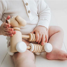 Load image into Gallery viewer, Bartholomew Wooden Dog Counter/Rattle toy