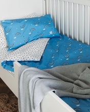 Load image into Gallery viewer, Blue Rainbow Bed Linen, Ingrid Petrie for Little Jagger