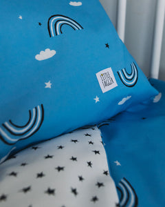 Blue Rainbow Bed Linen, Ingrid Petrie for Little Jagger