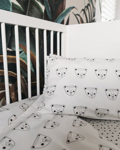 Monochrome Billy Bear Pillowcase