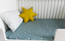 Load image into Gallery viewer, Black and White Star Print Pillowcase, Ingrid Petrie for Little Jagger