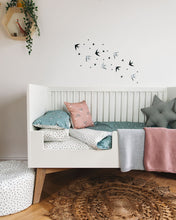 Load image into Gallery viewer, PRE ORDER Grey Swallows Bed Linen, Ingrid Petrie for Little Jagger