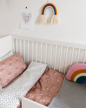 Load image into Gallery viewer, PRE ORDER Dusty Pink Rainbow Bed Linen, Ingrid Petrie for Little Jagger
