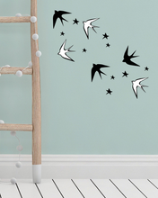 Load image into Gallery viewer, Removable Swallow Wall Decals