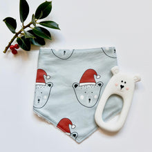 Load image into Gallery viewer, Santa Bear Christmas Dribble bib