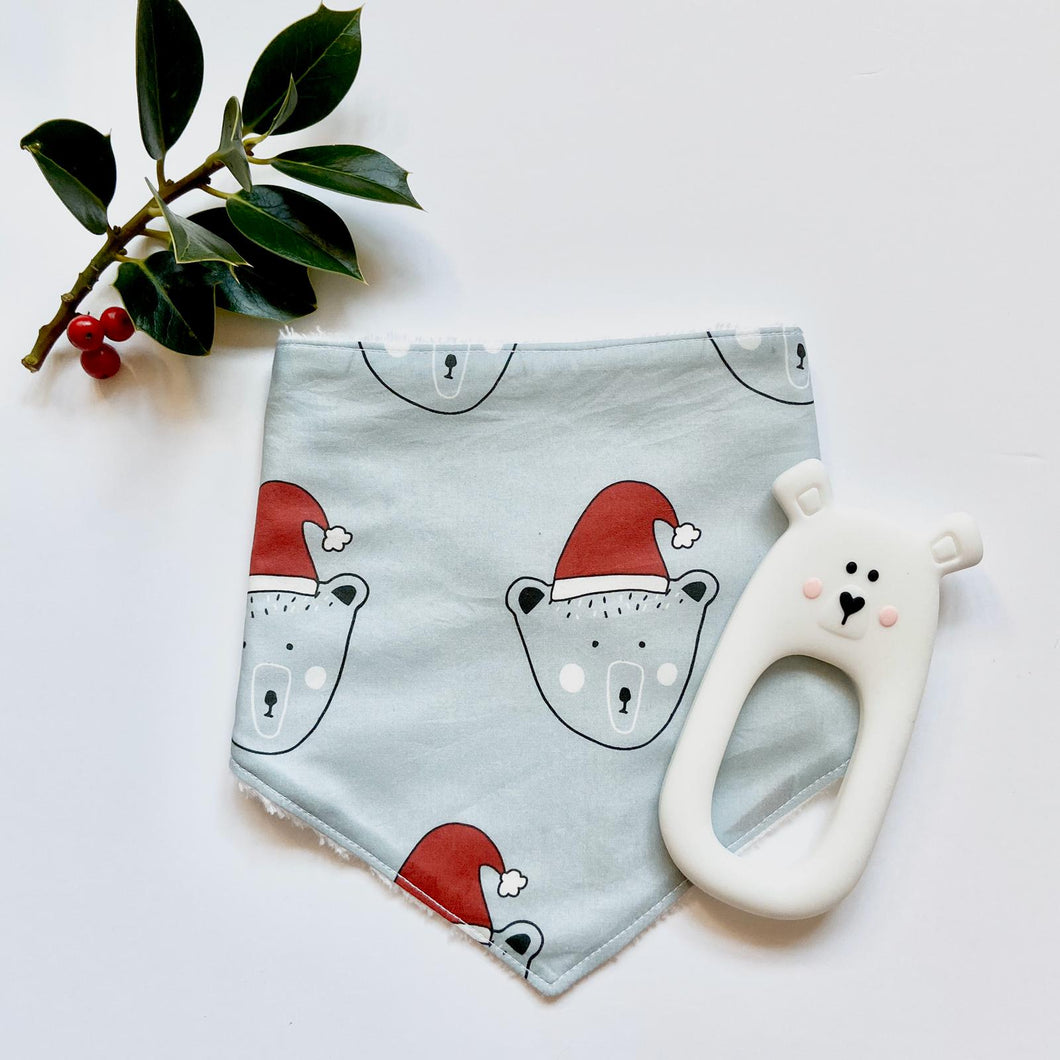 Santa Bear Christmas Dribble bib