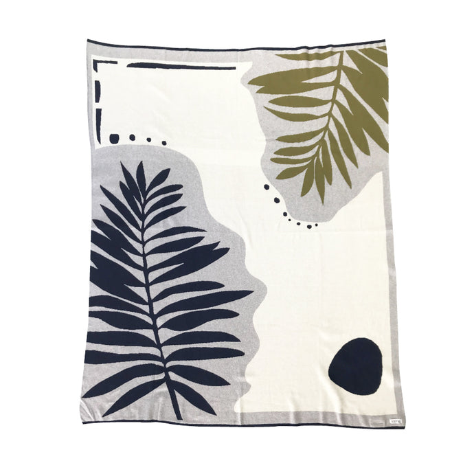 Botanical Throw in Olive