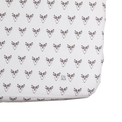 Monochrome Dixie Deer Fitted Sheet