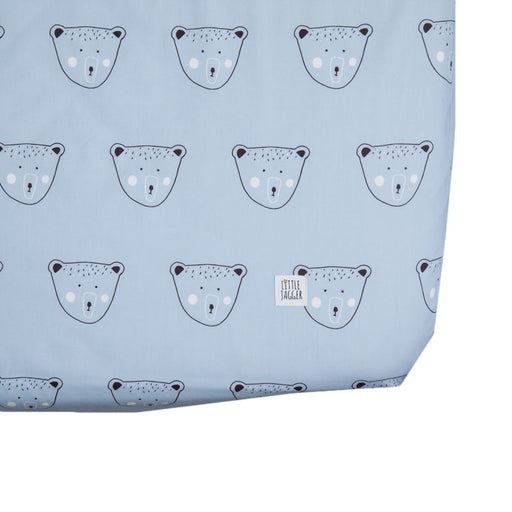 Blue Billy Bear Fitted Sheet
