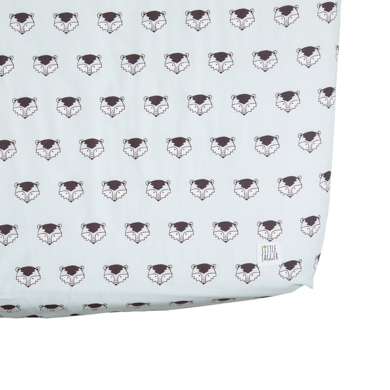 Ronnie Raccoon Fitted Cot Bed Sheet