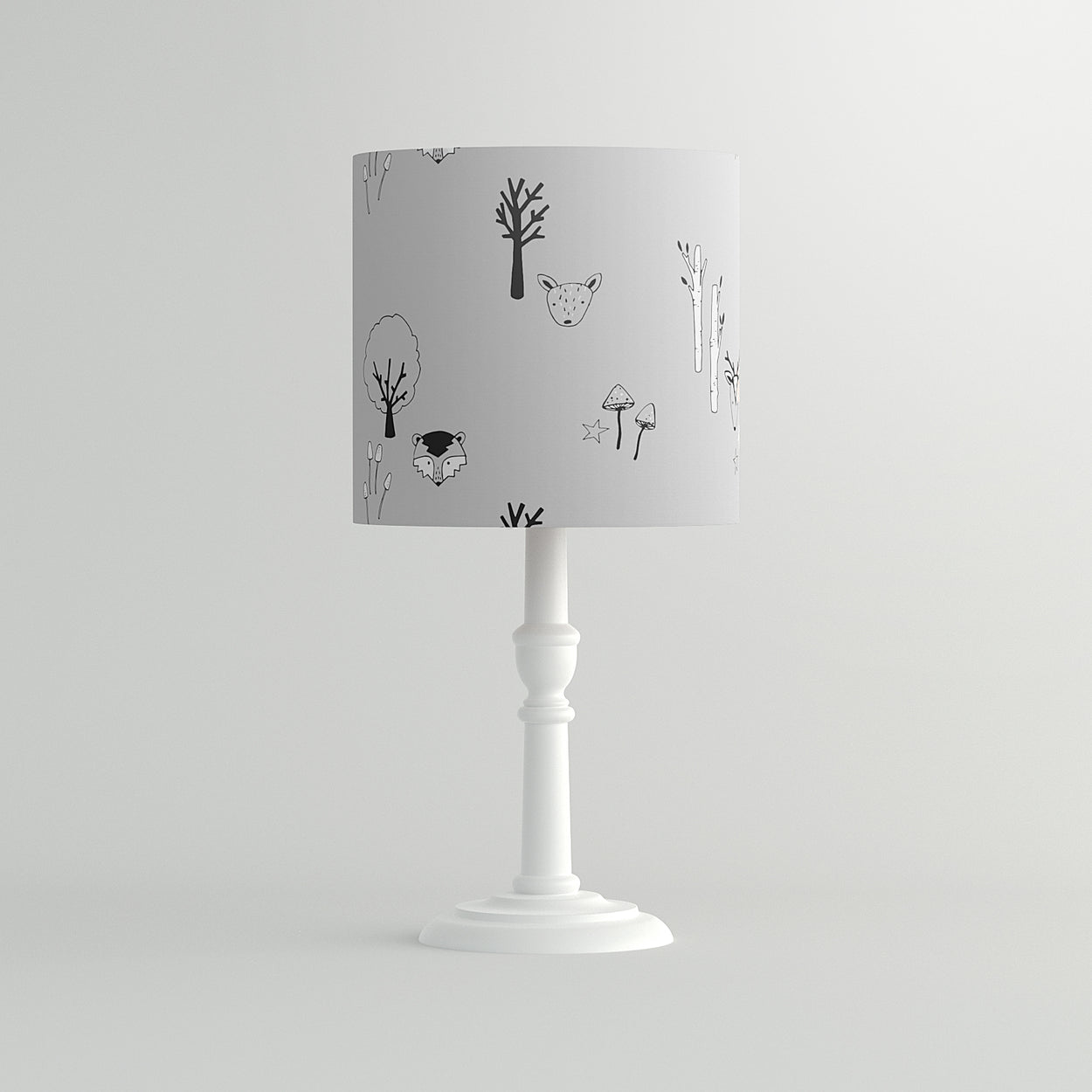 Grey Woodland Pendant Lampshade