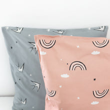 Load image into Gallery viewer, Grey Swallow Scatter Cushion