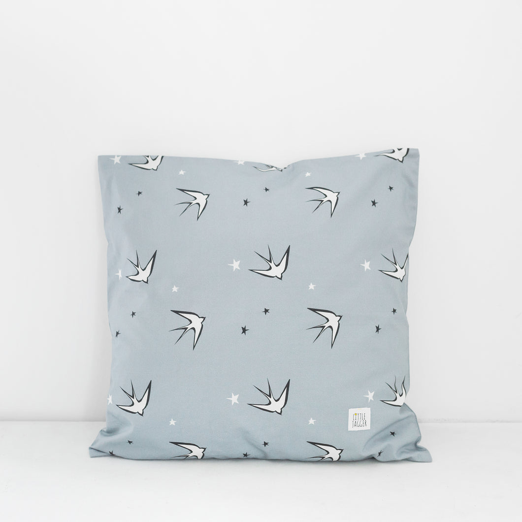 Grey Swallow Scatter Cushion