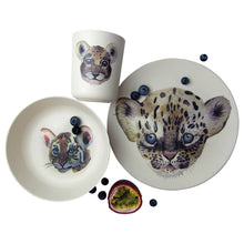 Load image into Gallery viewer, Leopard & Friends Bamboo Tableware Box Set