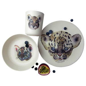 Leopard & Friends Bamboo Tableware Box Set