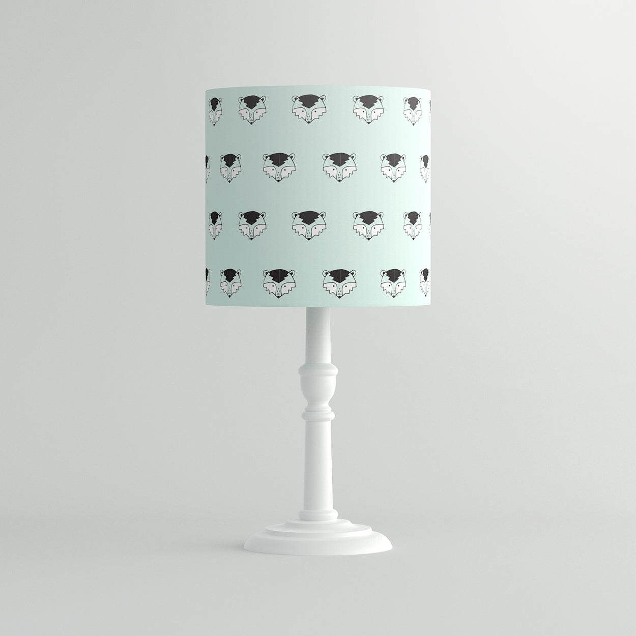 Mint Ronnie Raccoon Pendant Lampshade